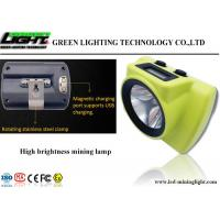 China New 18000lux High Brightness LED Miner's Cap Lamp OLED Screen for Battery Capacity Display on sale
