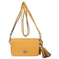 Cheap Big Leather Tassel Crossbody Leather Bags , Custom Make Lining , Silver Hardware Shoulder Bag wholesale