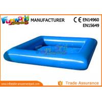 Cheap Large Blue PVC tarpaulin Inflatable Water Pools Square / Round Shape wholesale