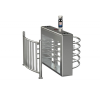 Cheap 30person/min SS304 Face Recognition Waist Height Turnstile wholesale