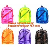 Cheap Backpack Bag Casual Backpack For Women, outdoor clear pvc plastic backpack, school travel backpack with padded shoulder wholesale