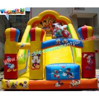 Cheap Custom Kids Amusement Mickey Commercial Inflatable Slide with strong handles safety wholesale