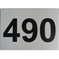 Cheap Single Sided Aluminum Metal Signs Outdoor Custom Size Black On White Straight Corner wholesale