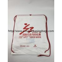 Cheap Two Layer CPE / LDPE Plastic Drawstring Backpack Bags With Logo wholesale