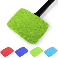 Cheap Microfiber Multi Function Window Cleaning Brush Towel Cover Car Home Glass Cleaning Tools Cover Dust Brush Cover wholesale