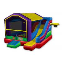 Cheap Royal Inflatable Basketball Bounce House , Sports Games Castle Bounce House With Slide wholesale