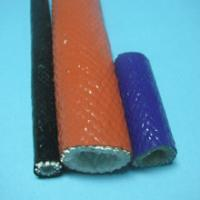 Cheap Brake Lines Braided Silicone Rubber Fiberglass Sleeving With Silicone Resin wholesale