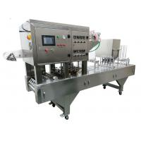 Cheap Industrial Ice Cream Cup Filling Machine , Plastic Cup Filling And Sealing Machine wholesale