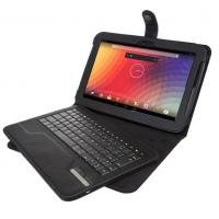 Cheap Leather Covering Black Tablet Case , Detachable Wireless Bluetooth Keyboard wholesale