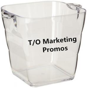 Cheap TOM104917 Transparent acrylic ice bucket for beer cold, Ice bucket, transparent ice bucket wholesale