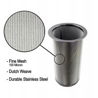 Cheap 18/8 Stainless Steel Cold Brew Coffee Maker Filter Cylinder 8.3cm Top Dia wholesale