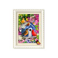Cheap 30x40cm 5D Pictures With Plastic White Frame For Office Decoration wholesale