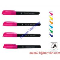 Cheap colorful slim Highlighter with logo barrel for office and school in china wholesale