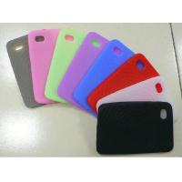Cheap Red / Black / White Customized Silicone Cell Phone Cover / Case For Apple iPhone wholesale