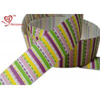 Custom Colorful Stripe / Rainbow  Grosgrain Ribbon for Hair Bows