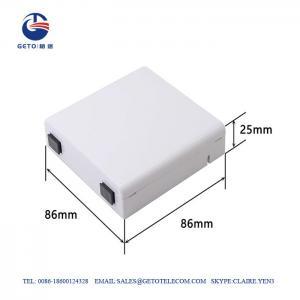 Cheap Sc / APC FTTH Fiber Terminal Box , IP65 Fiber Optic Distribution Box wholesale
