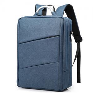 Cheap Polyester Mens Laptop Custom Logo Backpacks Double Shoulder Silk Screen wholesale