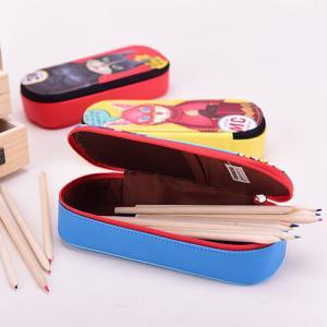 Cheap Lining 210 D Student Pencil Pouches Kids , Double Sided Pencil Case / Pencil Box wholesale