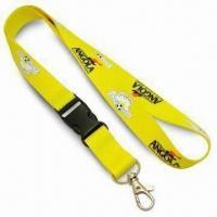 Cheap 2cm Wide Popular Promotional Lanyard with Nickel-plated Metal Snap Hook, Made of Polyester wholesale