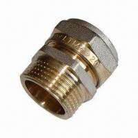 Cheap Brass Fittings, Male Straight Union with Nickel Plating, CE-certified wholesale