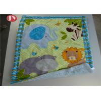 Cheap Patterns Animals Personalized Baby Blankets Ashable Velour Baby Quilt Reversible Sherpa Backing wholesale