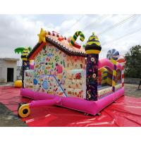 Cheap Colorful Candy Moonwalk Bounce House Slide Inflatable Kids Playground wholesale