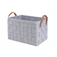 Cheap Collapsible Light Grey 3mm Felt Storage Boxes For Toys wholesale