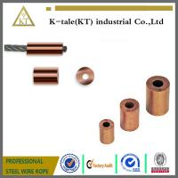 Buy cheap Round Copper Ferrule End Stop for Crimping Wire Rope from wholesalers