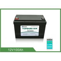 Buy cheap Bluetooth RV Camper Battery 12V 100Ah LiFePO4 Heating Film For Camper Van Motorhome from wholesalers