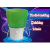 Cheap Educational Kids Toothbrush Cup Colorful Music Cup Drinking Glass With LED Light wholesale