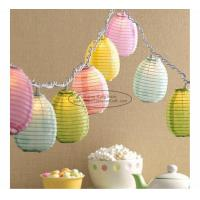 Cheap Blue green yellow egg shape Paper Lantern String Lights easter baby shower decoration wholesale