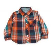 Cheap 100% cotton Yarn Dyed flannel kids long sleeve plaid shirts, designer childrens clothes wholesale