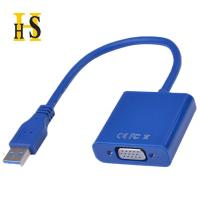 Cheap High quality USB3.0 TO VGA Adapter White Blue Black Color USB VGA Display Cable Adapter For CRT/LCD/Monitor/Projector wholesale