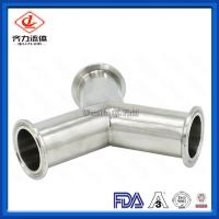Cheap 316L Sanitary Stainless Steel Quick Clamp Tube Fittings Y Type Tee wholesale