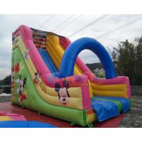 Cheap Disney Mickey Mouse Inflatable Bouncy Slide Commercial Grade PVC Slipping Games wholesale