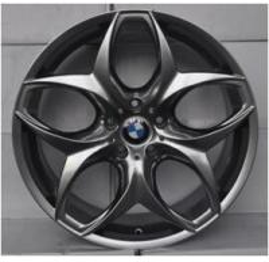 China BMW replica rims auto aluminum wheel 20 inch 120(mm)PCD chrome car wheel rims, bright black machined face on sale