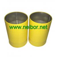 Cheap personalized round metal tin pen holder with raised rings wholesale