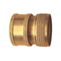 Cheap Hose Connect Metal Brass DIY OEM Parts , Brass Quick Coupler NBR Rubber Seal, IPS Female Thread wholesale