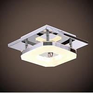 Modern Acrylic Chrome Finish LED Ceiling Light