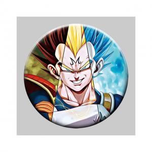 Cheap Round 5x5cm 3D Flip Lenticular Anime Pins With Goku wholesale
