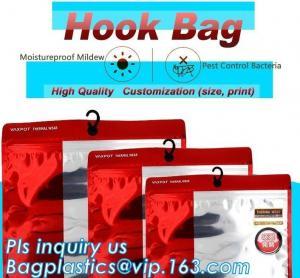 Cheap Stationery Set Transparent Plastic Bow Handle Hanger Zipper Lock Cosmetic Pvc Bag With Ziplock,Hanger Plastic Hook Bag f wholesale