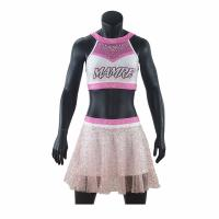 Cheap Adults Cheerleader Warm Up Suits Crop And Pleated Skirt Anti Bacterial wholesale