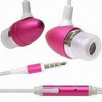 Cheap Stereo Earphones for iPhone/iPad/iPod, with 20Hz to 20kHz Frequency Range wholesale