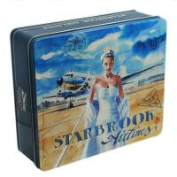 Buy cheap Customized Embossing Rectangular Tin Box For Packaging from wholesalers
