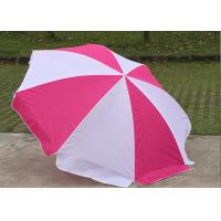Cheap Foldable Pink And White Outdoor Sun Umbrellas Nylon Material With Steel Frame wholesale