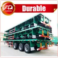 Cheap Heavy duty loading capacity brand new tri axles flatbed timber trailer wholesale