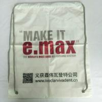 Cheap Rope Shoulder Custom Plastic Drawstring Bags Double Layer Material Synthetic wholesale