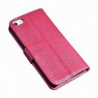 Cheap Distinctive Credit Card Slot Leather Case for iPhone 5 wholesale