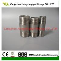 Quality 1/8-6 inch 316L,304 stainless steel threaded both end pipe barrel nipple for sale