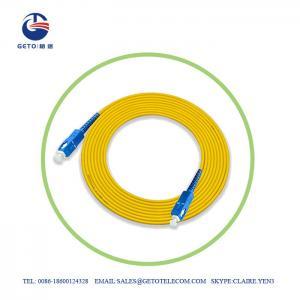 Cheap UPC SC UPC 9/125 Single Mode 3m Optic Fiber Patch Cord Simplex wholesale